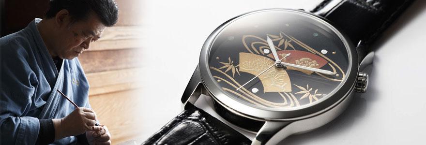 蒔絵 腕時計 舞扇